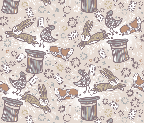 Ladies and Gentlemen applause please! fabric by zapi on Spoonflower - custom fabric