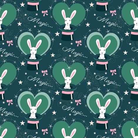 magic benny bunny fabric by lilliblomma on Spoonflower - custom fabric