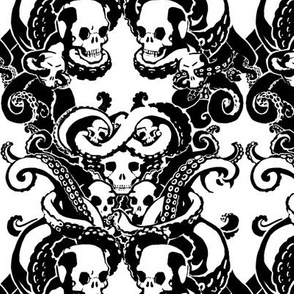 Skull & Tentacle BW