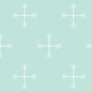 Arrow cross Cool Mint
