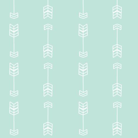 Bold arrows cool mint fabric by daniellereneefalk on Spoonflower - custom fabric
