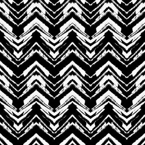 Zig zag in black and white