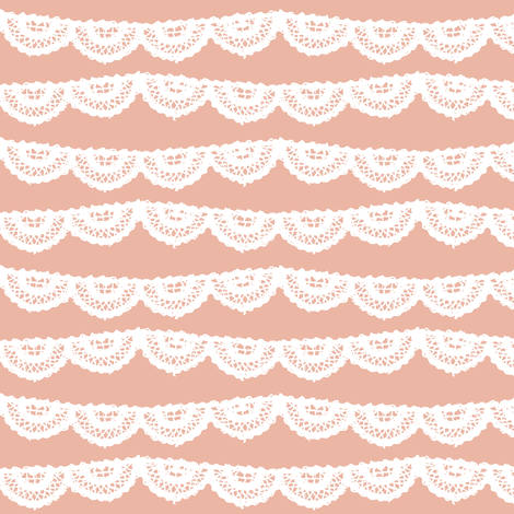 Blush Lace fabric by mrshervi on Spoonflower - custom fabric