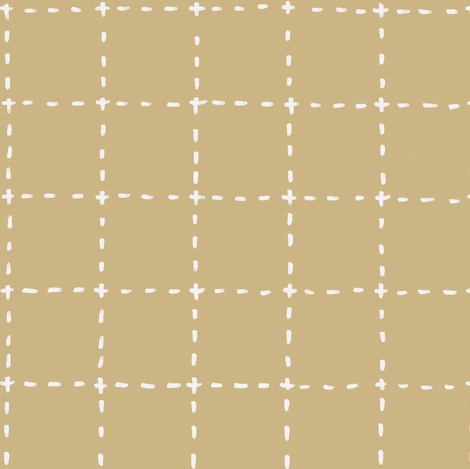 stitches dijon mustard fabric by ali*b on Spoonflower - custom fabric