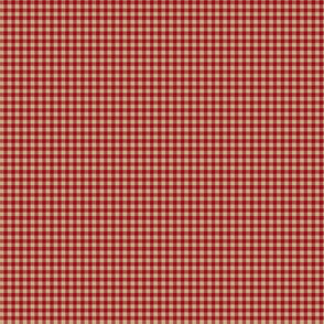 Cranberry & Pumpkin Micro Gingham