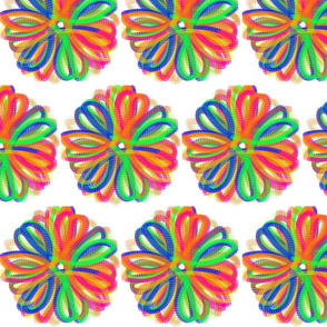 Abstract Flower Digital Doodle