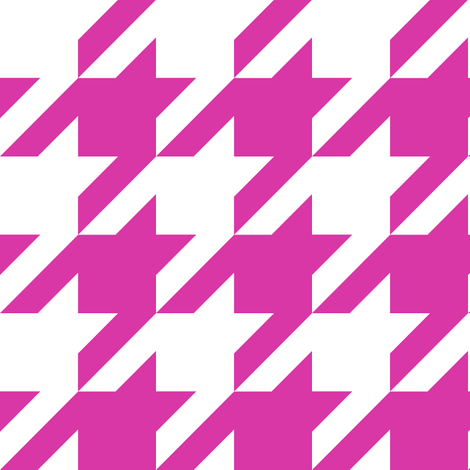The Houndstooth Check - Patsy fabric by peacoquettedesigns on Spoonflower - custom fabric