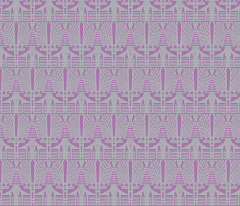 deco angles grey on orchid fabric by bymindy on Spoonflower - custom fabric