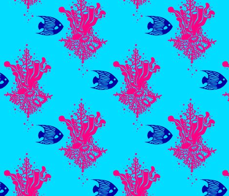 Fuschia Reef fabric by katebillingsley on Spoonflower - custom fabric