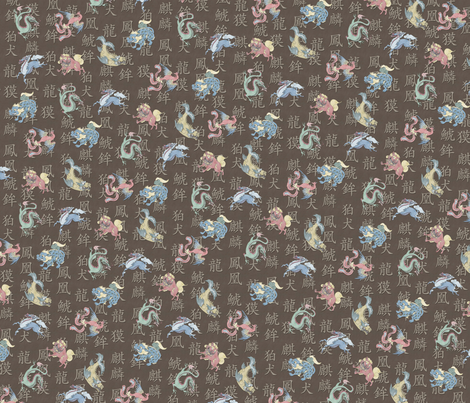 Japanese Creatures fabric by craftyscientists on Spoonflower - custom fabric