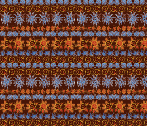 dot_flowers_brown_background fabric by tat1 on Spoonflower - custom fabric
