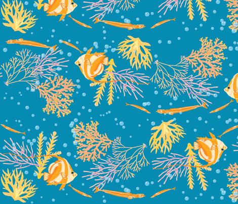 Coral Reef fabric by shimmermotif on Spoonflower - custom fabric