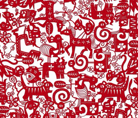 paper zodiac fabric by scrummy on Spoonflower - custom fabric
