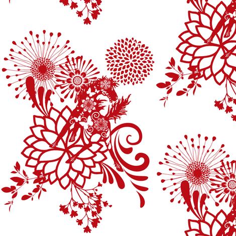 Abundant Beauty   fabric by paragonstudios on Spoonflower - custom fabric