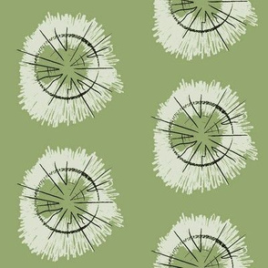 tree circles - olive