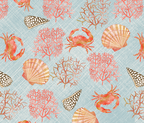 coral_reef_M fabric by nadja_petremand on Spoonflower - custom fabric