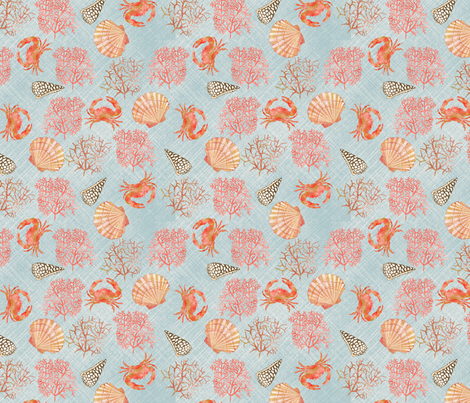 coral_reef_S fabric by nadja_petremand on Spoonflower - custom fabric