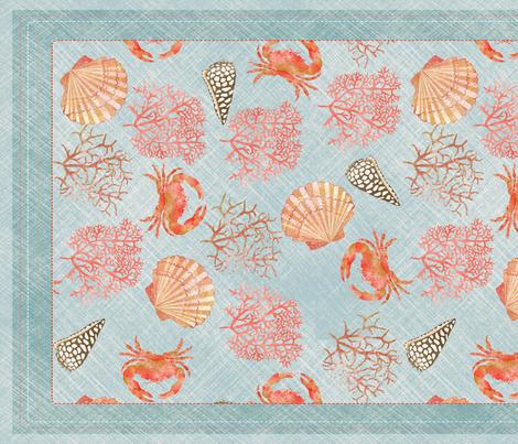 bariere_de_corail_tea_towel_2 fabric by nadja_petremand on Spoonflower - custom fabric