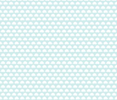 Blue Hedgehogs fabric by plaidgoose_designs on Spoonflower - custom fabric
