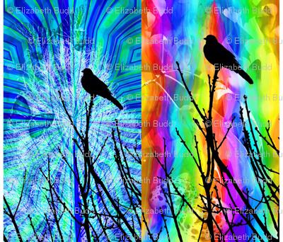 Two Bird Quilt Panels