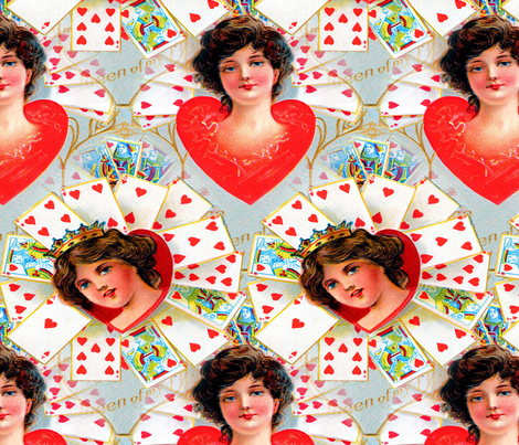 Vintage Valentine fabric by mandamacabre on Spoonflower - custom fabric