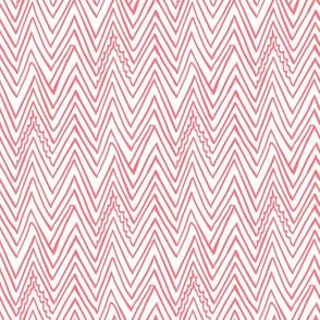 Thnin pink zigzag line