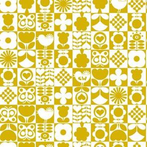 Floral Tiles - Gold