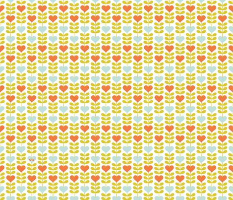 Double Leaf Heart Flower II fabric by studio_amelie on Spoonflower - custom fabric