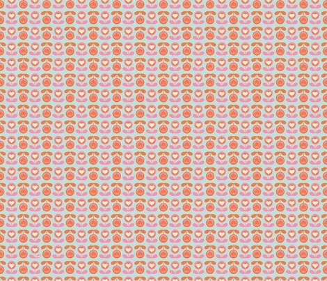 Heart Flower II fabric by studio_amelie on Spoonflower - custom fabric