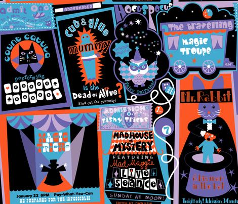 Utopia Animalia Magica fabric by christinewitte on Spoonflower - custom fabric