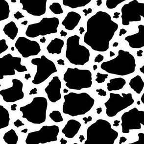 Black and White Cow Spots