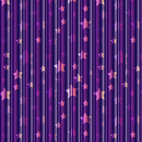 magic curtain in violet