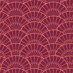 Peach and Burgundy Fantail