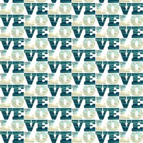 Word Fabric: Love Sea