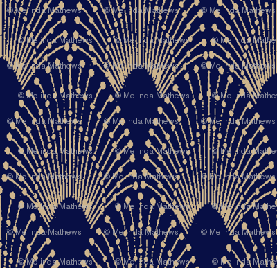 deco feathers sand on navy