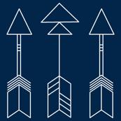 navy arrows