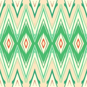 Green ikat
