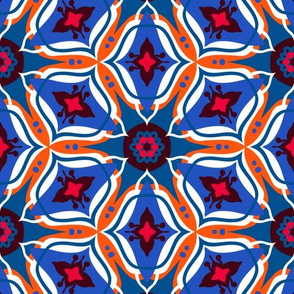 Moroccan ornament in blue