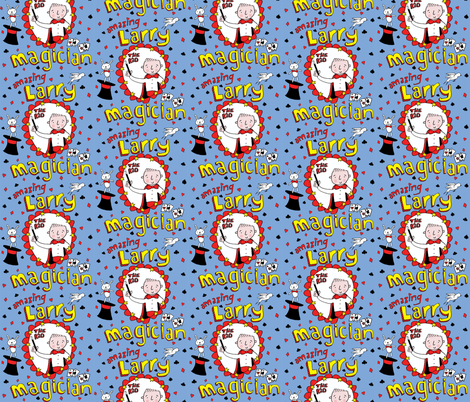 'Amazing Larry' the kid Magician! fabric by pattyryboltdesigns on Spoonflower - custom fabric