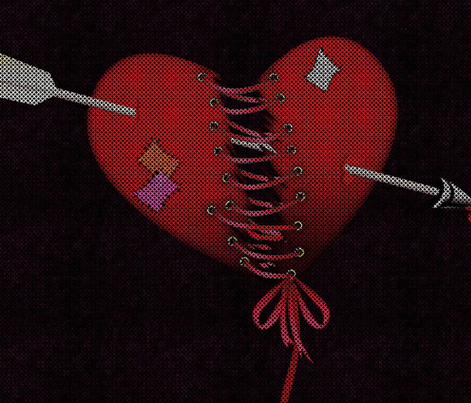 fettered love cross stitched