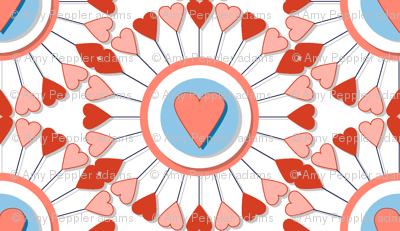 A Fair of the Heart* || hearts valentine valentines day wheel geometric mandala love