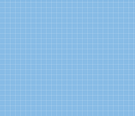 Blue Cube Grid fabric by lilliputianlane on Spoonflower - custom fabric