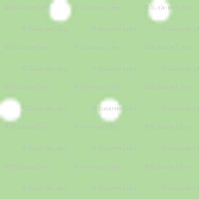 White on Spring Green Polka Dot Tinies