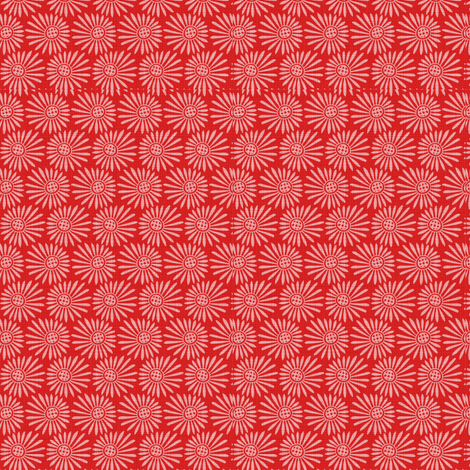 Red Coral. Small fabric by spellstone on Spoonflower - custom fabric
