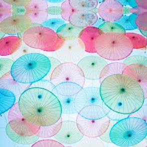 PASTEL CHINESE UMBRELLAS