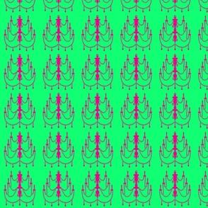 Chandelier in Watermelon