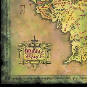 Alternate Middle Earth Map