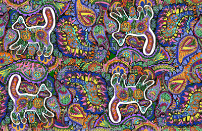 Paisley Cats All Over
