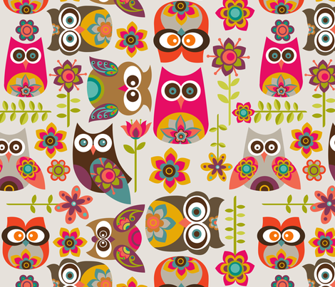 New Little Owls fabric by valentinaharper on Spoonflower - custom fabric