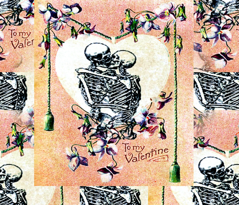 Till Death fabric by mandamacabre on Spoonflower - custom fabric